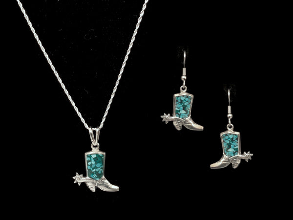 Vogt Silversmiths Pendant Sets The Boot Scootin' Set
