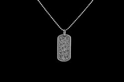 Vogt Silversmiths Pendants 20% OFF The Sterling Floral Mini Dog Tag 016-021