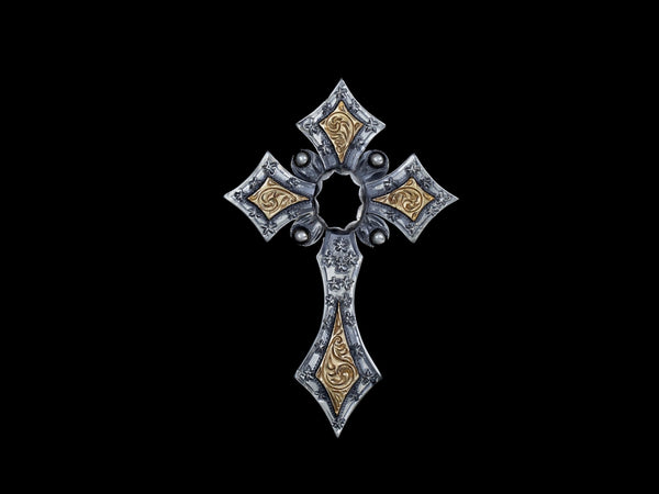 Vogt Silversmiths Pendants The Onyx Gypsy Cross Pendant  016-809P