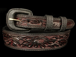 Vogt Silversmiths Red Cherry Floral Taper Size 28 Belts
