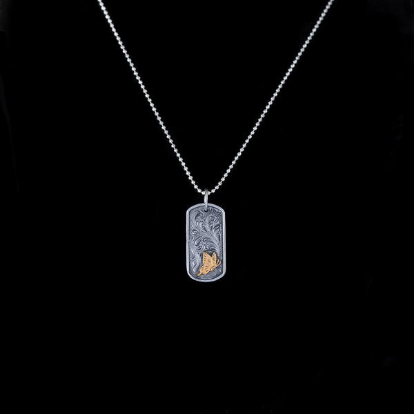 Vogt Silversmiths Sale Necklaces NOW 60% OFF The Flutter Dog Tag Pendant 016-145