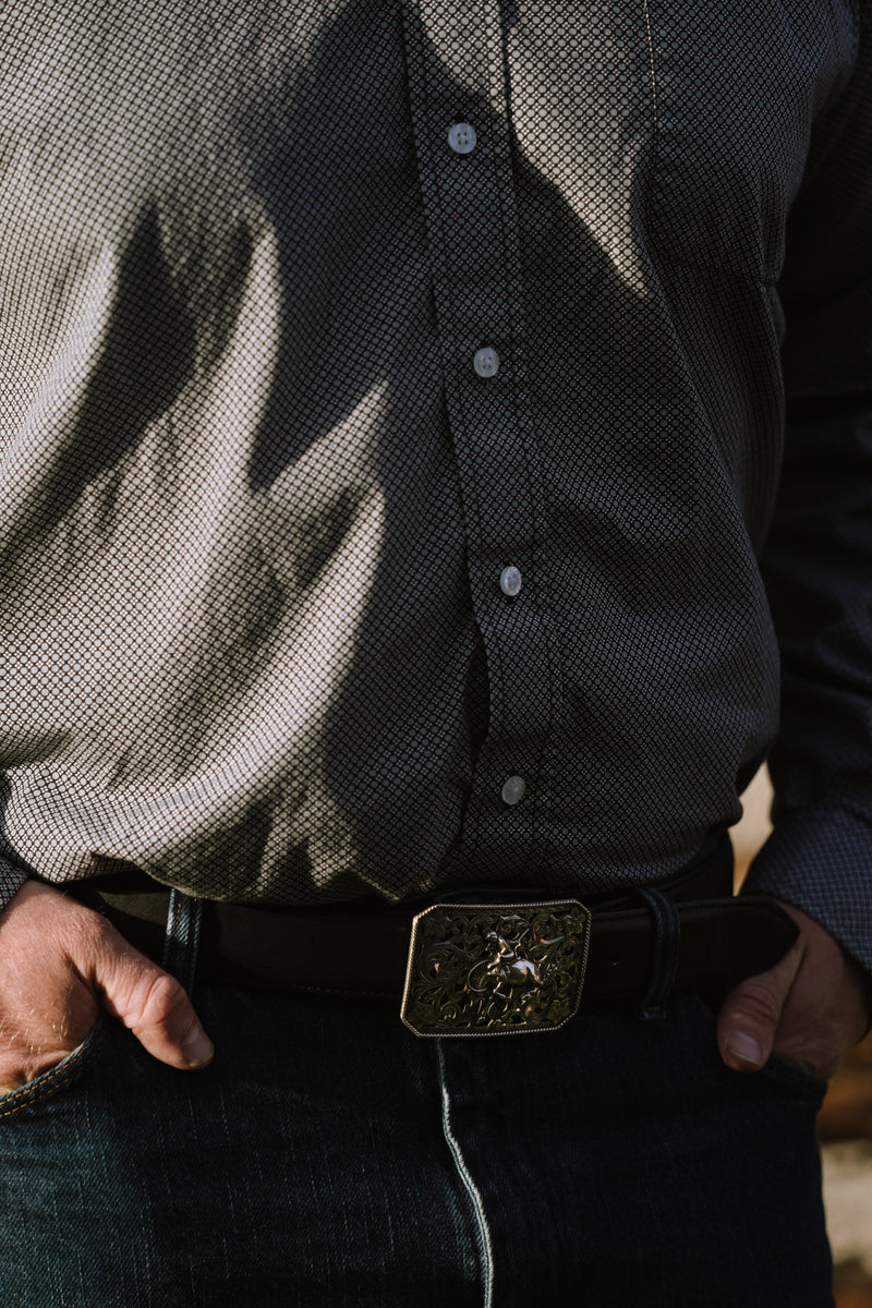 The Filigree Bronc Trophy Buckle
