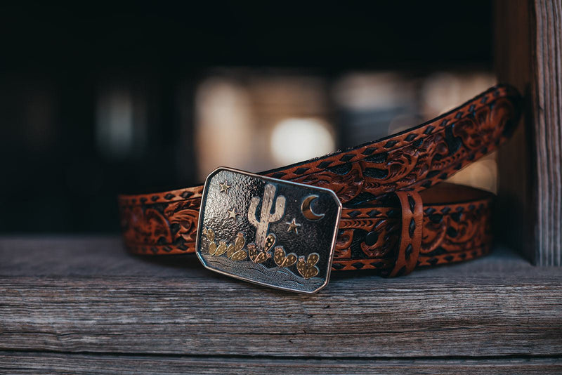 Vogt Silversmiths Trophy Buckles The Desert Dawn Trophy Buckle