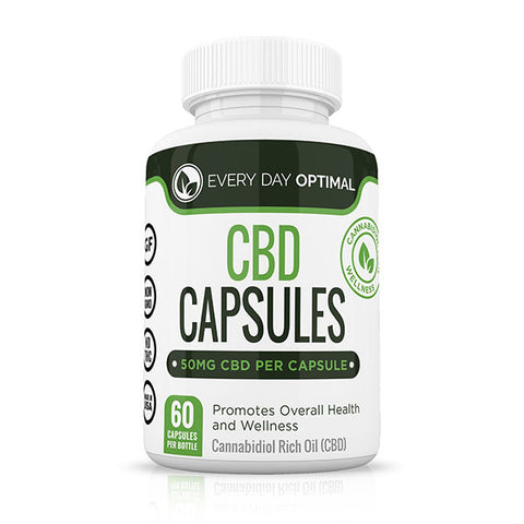 Pure CBD Oil Capsules, 50mg CBD Oil Per Pill