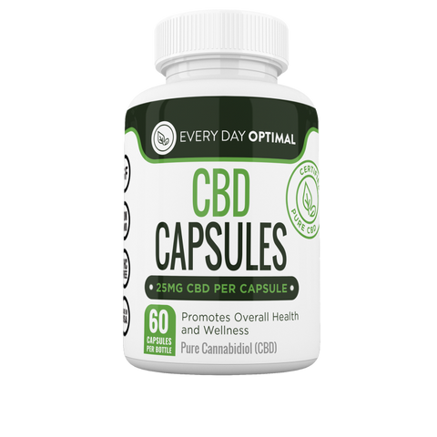 Pure CBD Oil Capsules, 25mg CBD Oil Per Pill