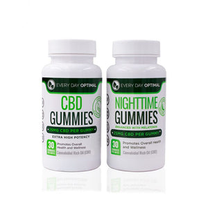 AM/PM Gummy Bundle | 25mg CBD Gummies + 25mg Sleep Gummies