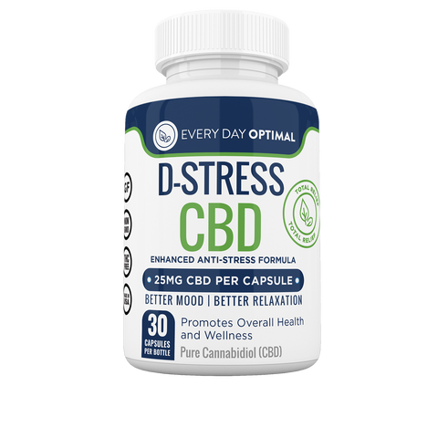 Image of D-Stress CBD Capsules | CBD For Anxiety and Stress-Health Smart Hemp