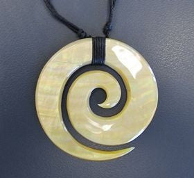 Cream Mother of Pearl Koru Pendant