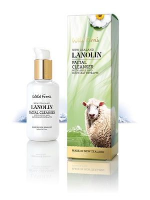 Lanolin Facial Cleanser with Apple and Olive Leaf Extracts