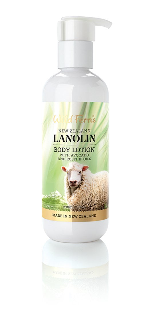 Lanolin Body Lotion with Avocado and Rosehip Oils