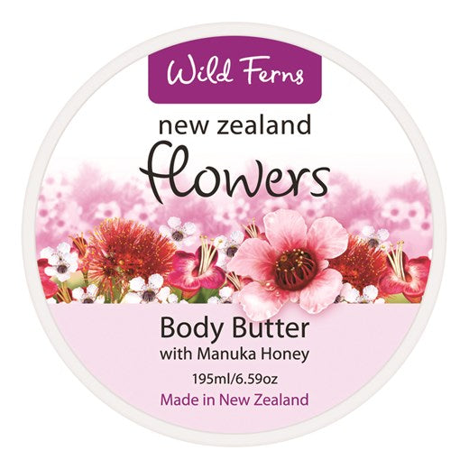 New Zealand Flowers Body Butter with Manuka Honey