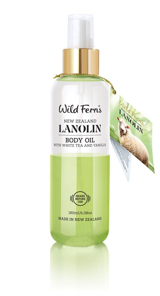 Lanolin Body Oil Mist with White Tea and Vanilla