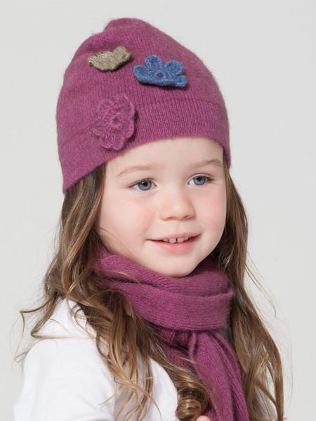 Possumdown Child's Flower Beanie