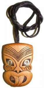 Wheku Carved Face Pendant