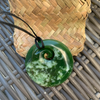 Greenstone Koru Pendant carved by Colin Bennett