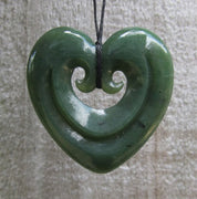 Greenstone Jade Smiling Heart