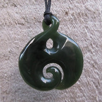 Greenstone Jade Twist Pendants