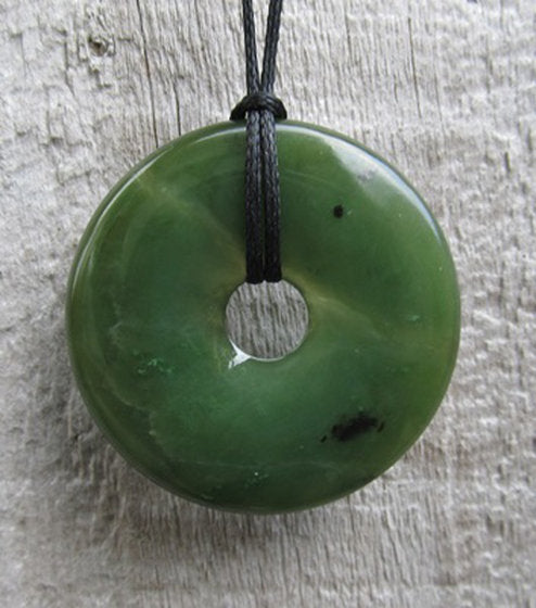 Greenstone Jade Disc Pendants