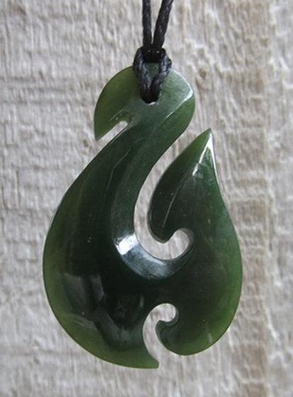 Greenstone Jade Hook Pendants