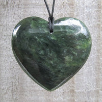 Greenstone Jade Heart Pendants
