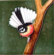 Ceramic Wall Art Tile - Fantail