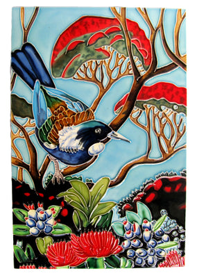 Ceramic Wall Art Tile - Tui