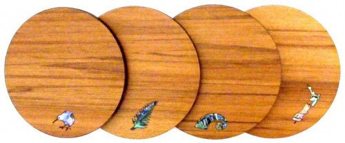 Rimu Coaster (Set of four)  Mixed