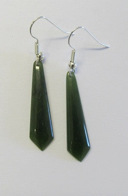 Greenstone Jade Drop Earrings