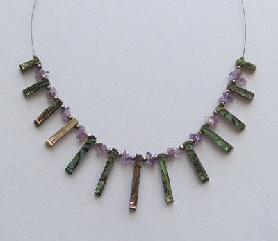 Paua and Amethyst Necklace