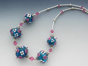 Love is in the Air glass necklace by Astrid Christine
