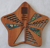 Rimu Wood Starfish Coasters with Paua Shell for Corporate Gifts