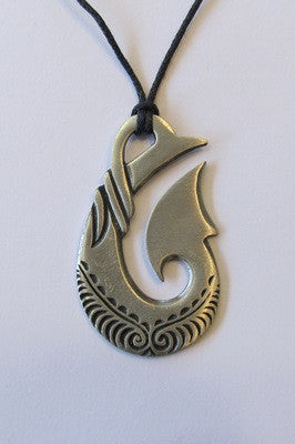 Pewter Pendant Fish Hook