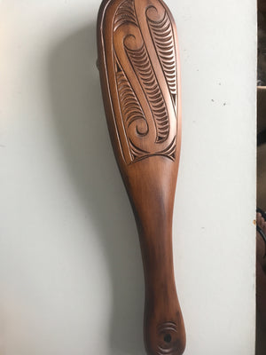 Maori Patu or fighting club carved from Native timber