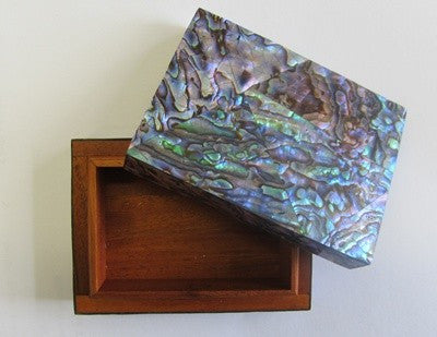Paua Shell Wood Jewellery Box