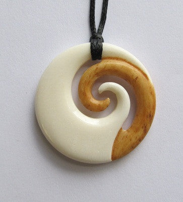 carved necklace brosnan brosnanjade maori carving pendant bone the place jade large koru art style products