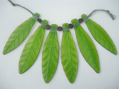 Leaf skirt wall hanging - Large