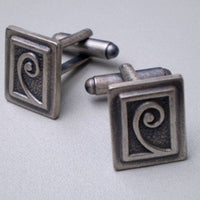 Fine Pewter Koru Cuff Links