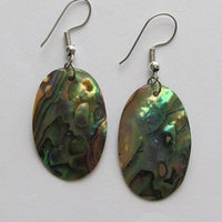 Oval Paua Shell Earrings
