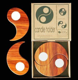 Wooden - Candle Holder - 2 in 1