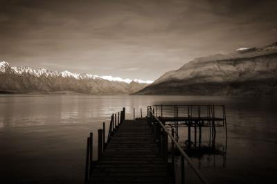 Lake Wakatipu Wharf Framed Photograph