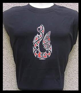 Fish Hook New Zealand Maori T Shirt