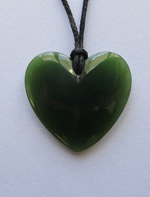 Heart Shaped Greenstone Pendant - X Small