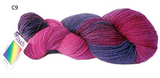 Possum Fur and Merino Wool 8 Ply Hand Dyed Knitting Yarn 100g