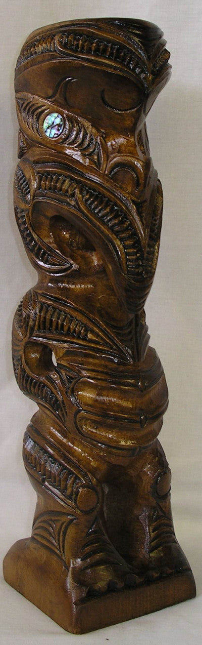 Maori  Teko Teko Wood Carved - Medium