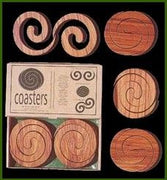 Wooden coasters Set of Four