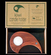 Wooden Single Kiwi Candle Holder