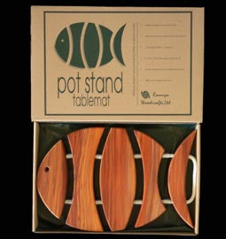 Wooden Fish Pot Stand