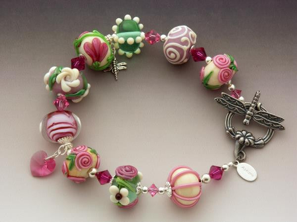 Princess Rose glass bracelet by Astrid Christine