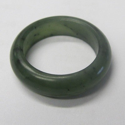 Greenstone Jade ring 8mm
