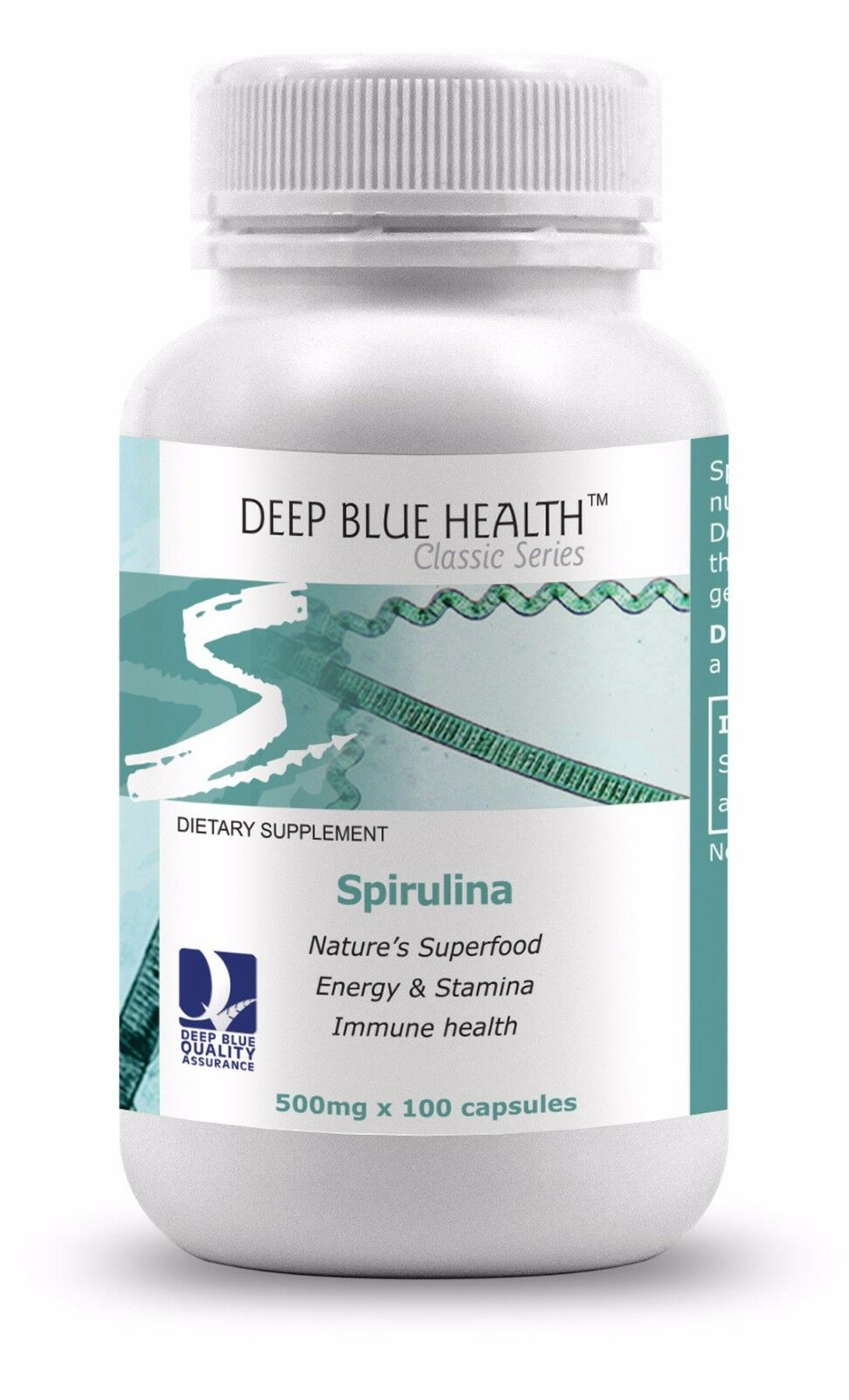 Spirulina 500mg x 100 caps
